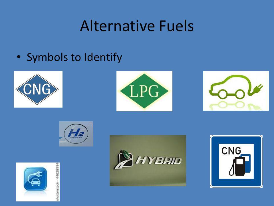 Alternative Fuels Symbols to Identify