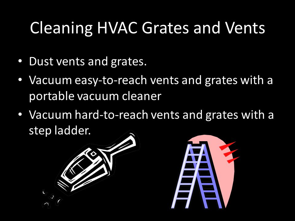 Cleaning HVAC Grates and Vents Dust vents and grates.