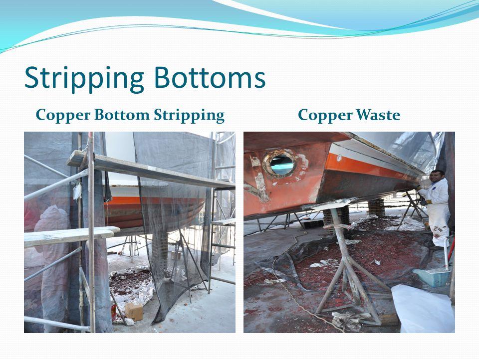 Bottom Paints Basics Biocide Paints: Copper Other metals Other biocides (Econea, Irgarol, snake oil) Non-Biocide Paints: Hard bottom Soft bottom silicates (Intersleek) Slip liners