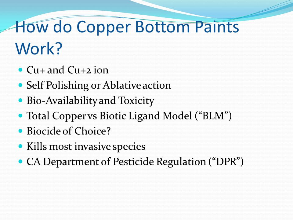 How do Copper Bottom Paints Work.