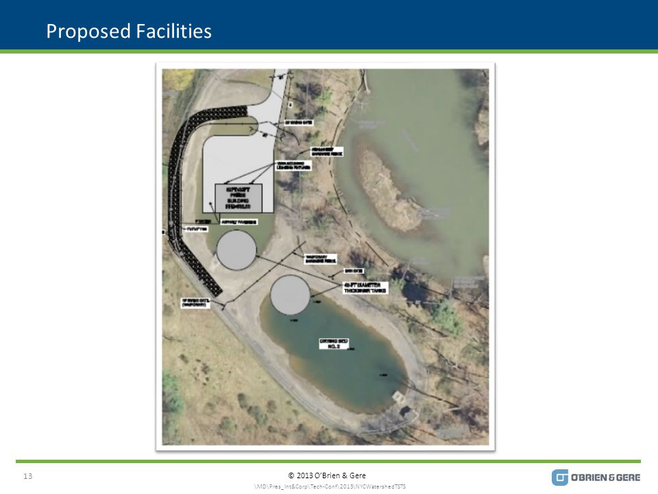 © 2013 O'Brien & Gere Proposed Facilities 13 \MD\Pres_Int&Corp\Tech-Conf\2013\NYCWatershedTSTS