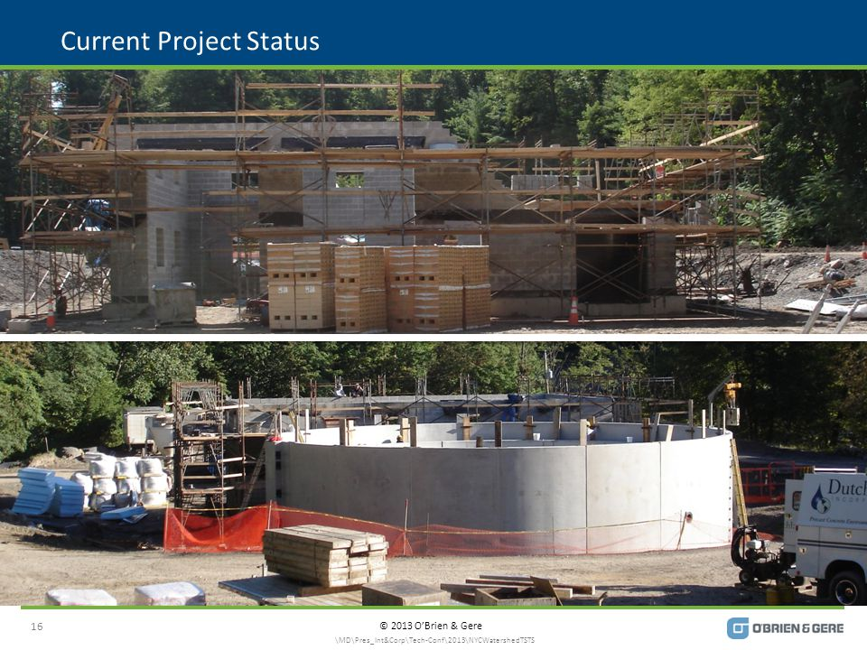 © 2013 O'Brien & Gere Current Project Status 16 \MD\Pres_Int&Corp\Tech-Conf\2013\NYCWatershedTSTS