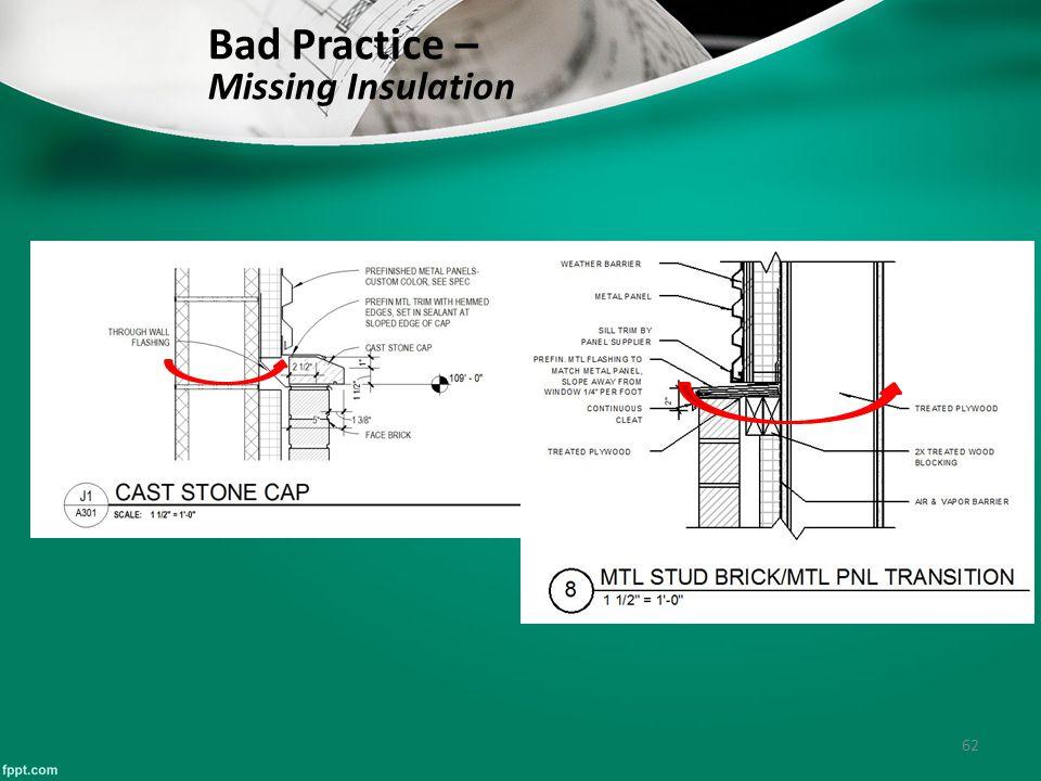 62 Bad Practice – Missing Insulation