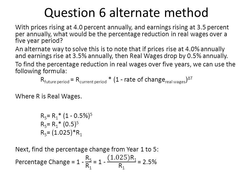 Question 6 alternate method