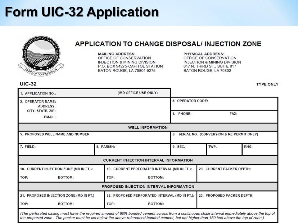 Form UIC-32 Application
