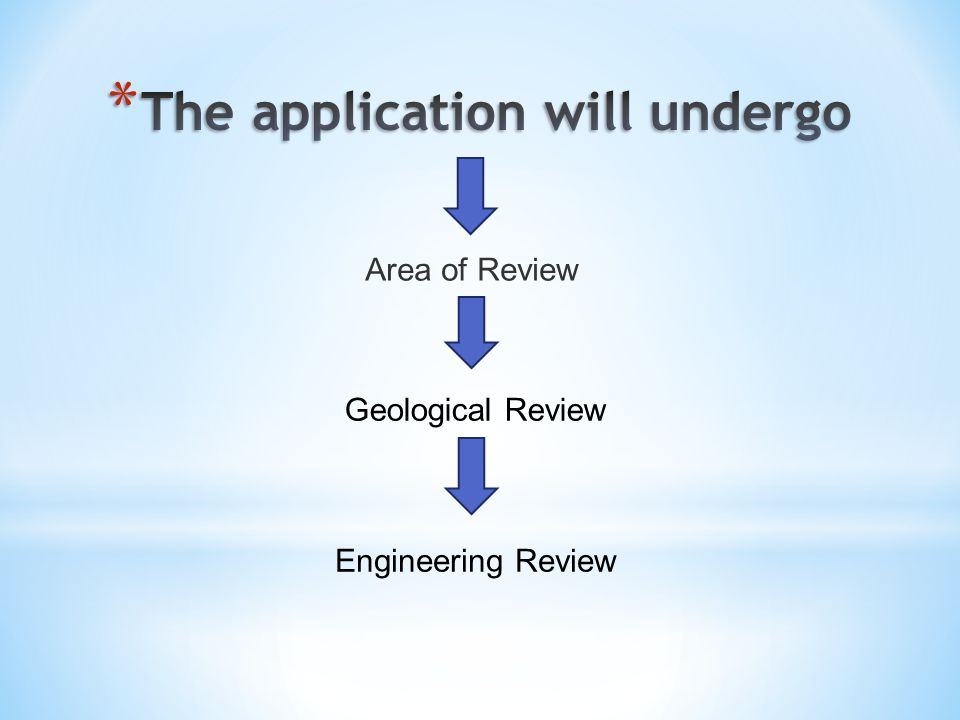 Area of Review Geological Review Engineering Review