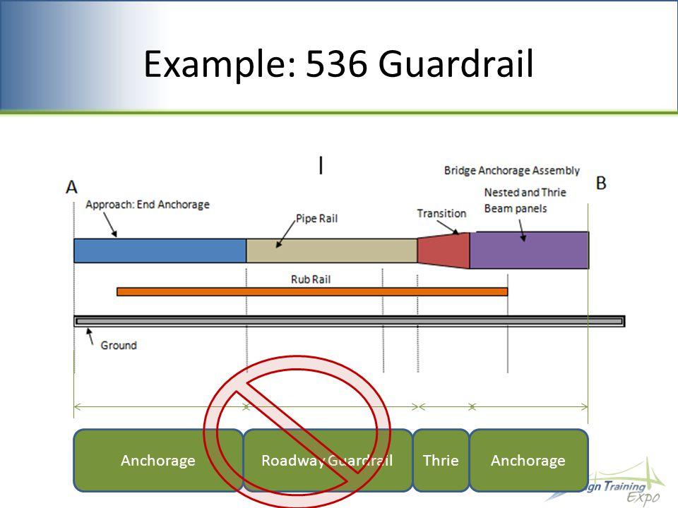 Example: 536 Guardrail Roadway GuardrailThrieAnchorage