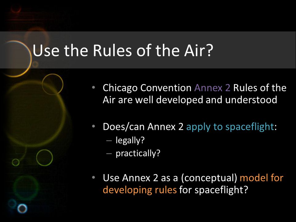 Use the Rules of the Air.