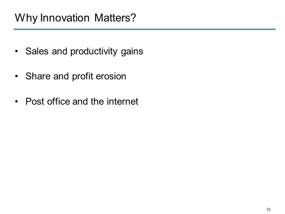 Why Innovation Matters.