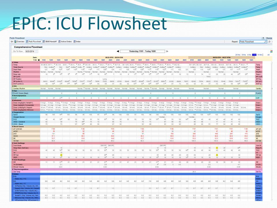 EPIC: ICU Flowsheet