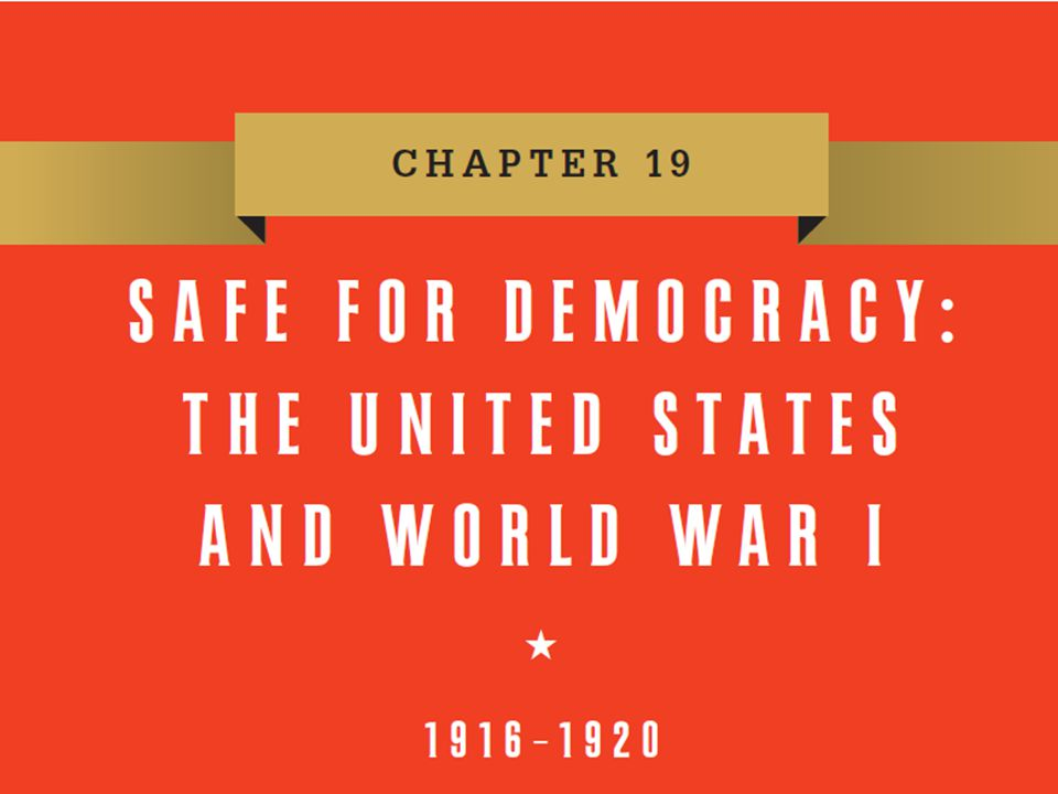 The War at Home  Focus Question: How did the United States mobilize resources and public opinion for the war effort.