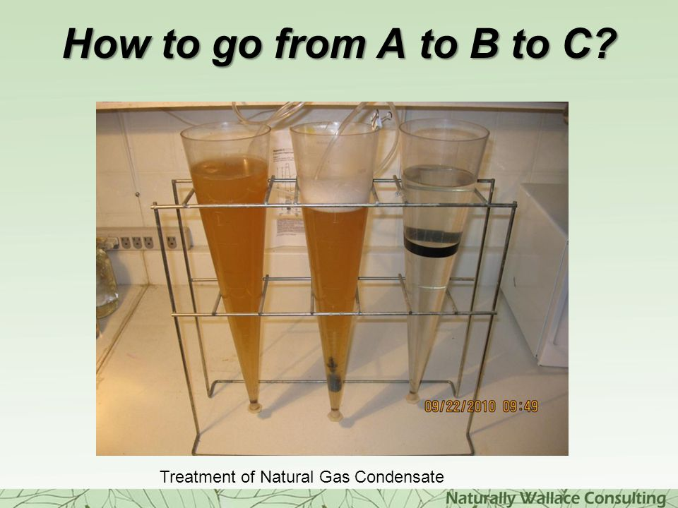 How to go from A to B to C? Treatment of Natural Gas Condensate