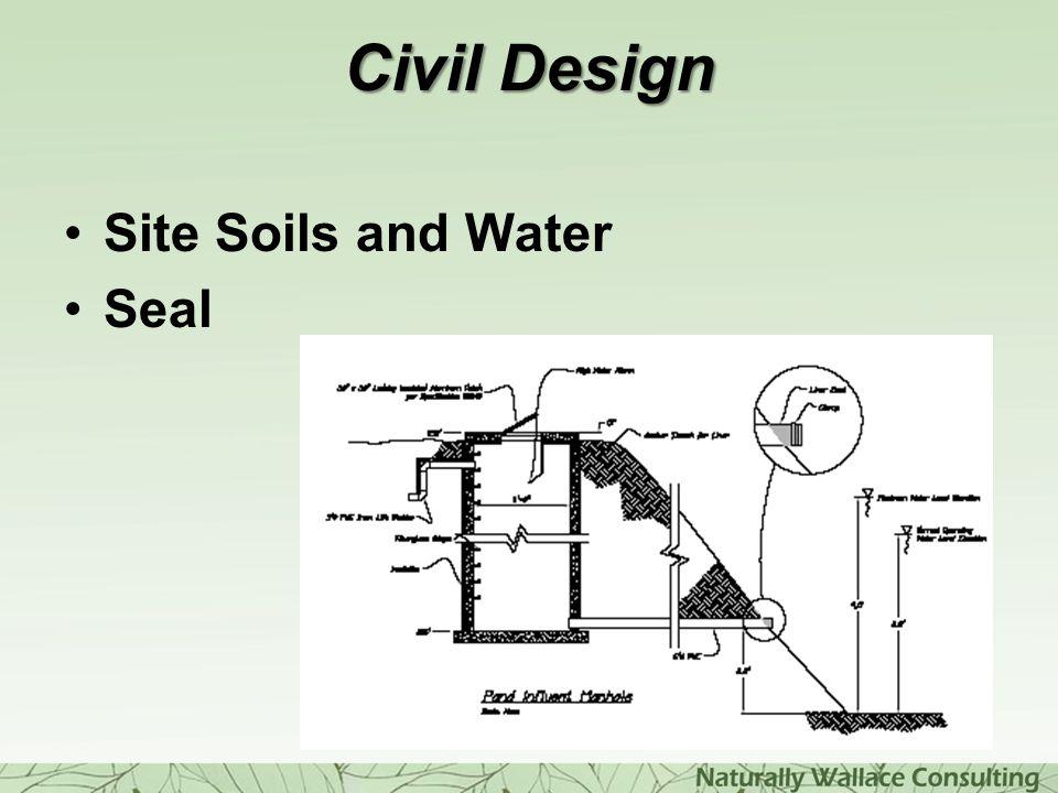 Civil Design Site Soils and Water Seal