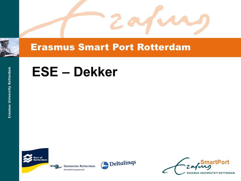 SmartPort Erasmus Smart Port Rotterdam ESE – Dekker