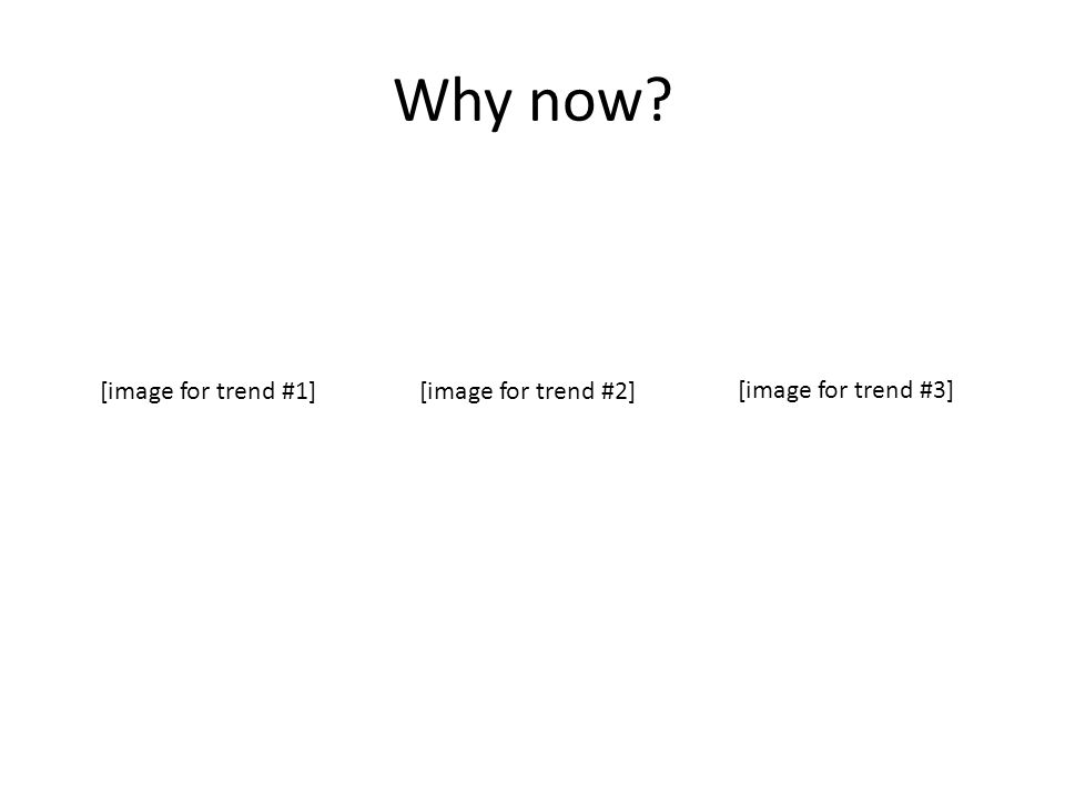 Why now [image for trend #1][image for trend #2] [image for trend #3]