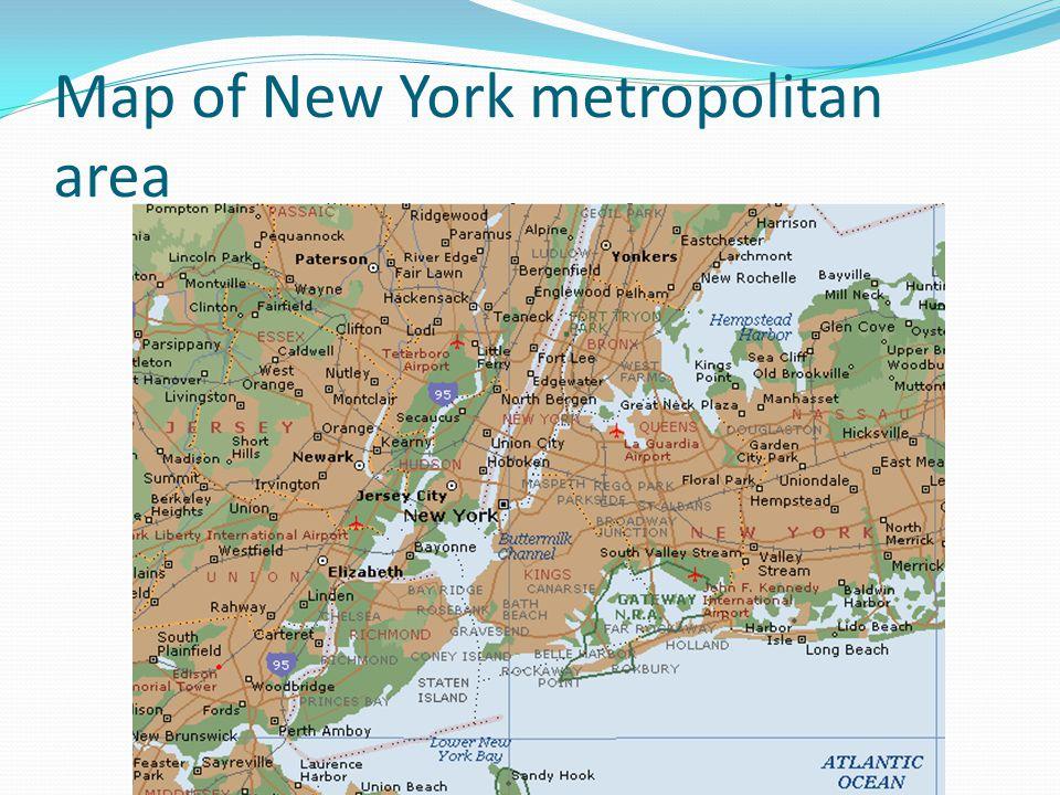 Map of New York metropolitan area