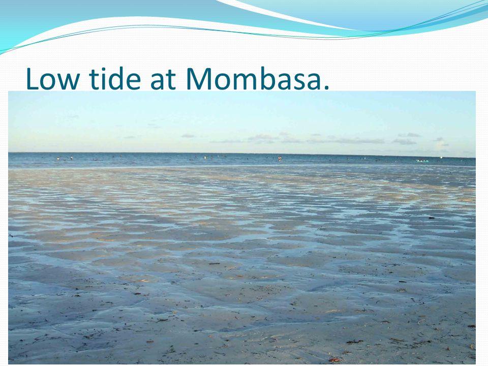 Low tide at Mombasa.