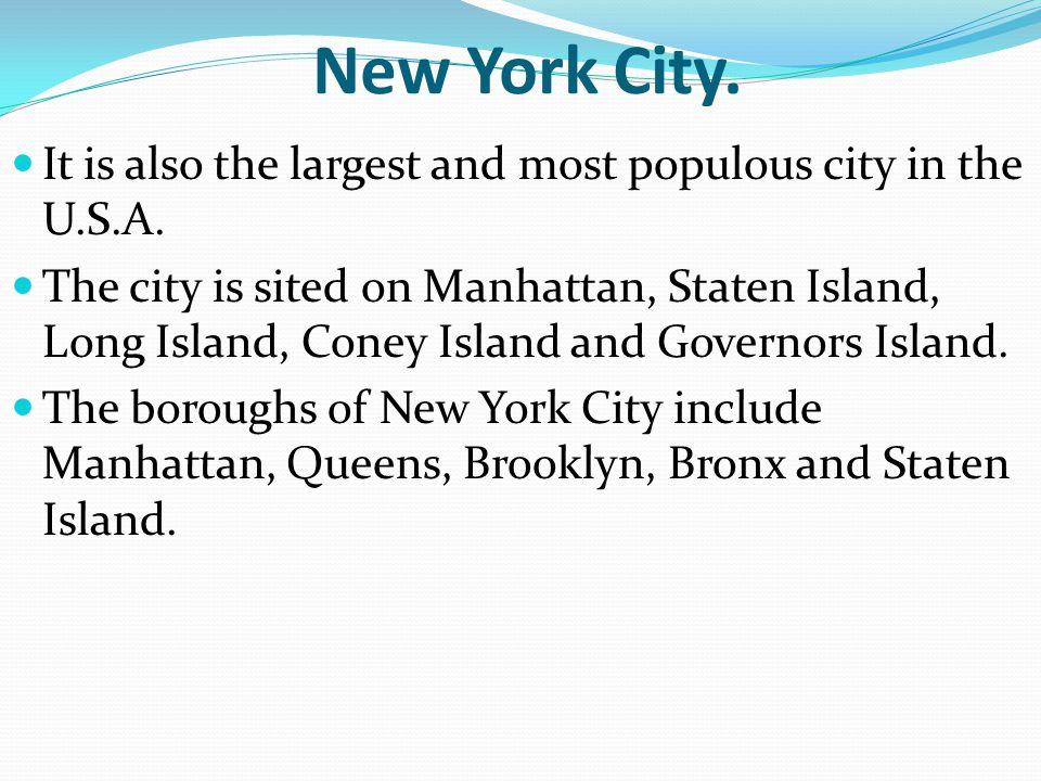 Map of New York City.