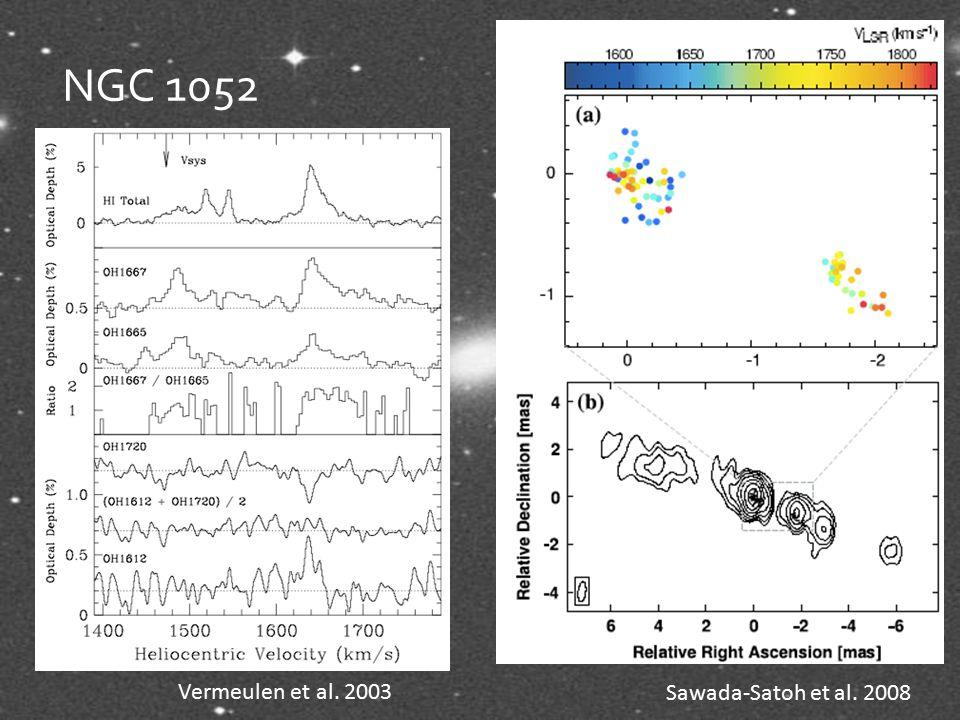 NGC 1052 Sawada-Satoh et al. 2008 Vermeulen et al. 2003