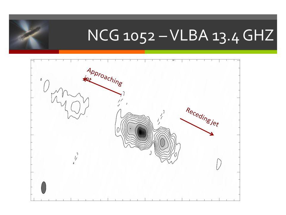 NCG 1052 – VLBA 13.4 GHZ Receding jet Approaching jet