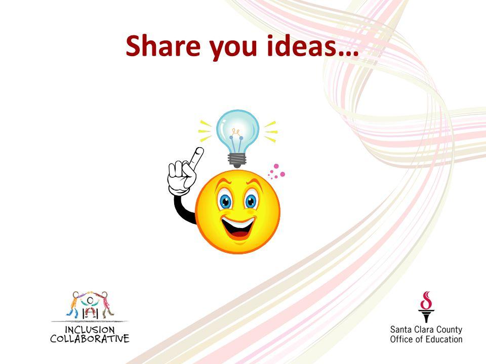 Share you ideas…