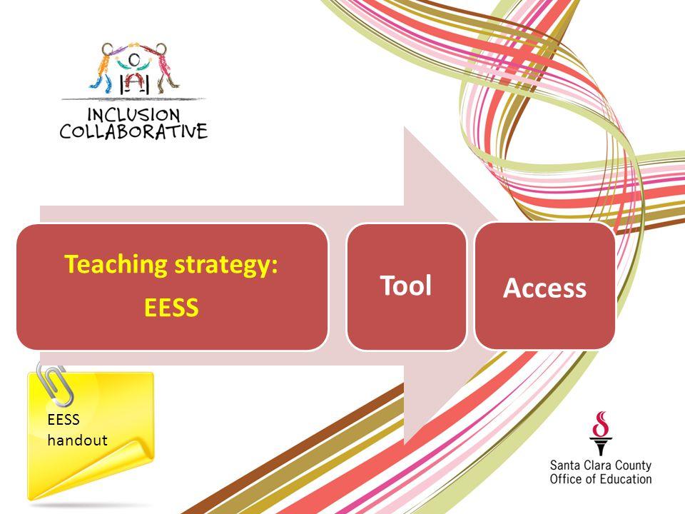 EESS handout Teaching strategy: EESS Tool Access