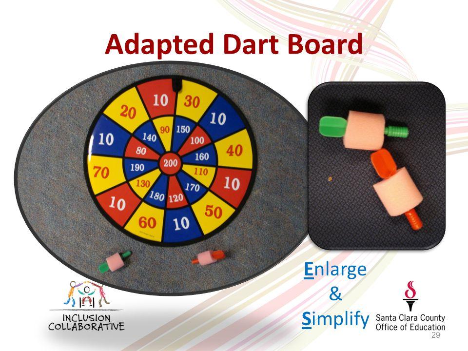 Adapted Dart Board 29 Enlarge & Simplify