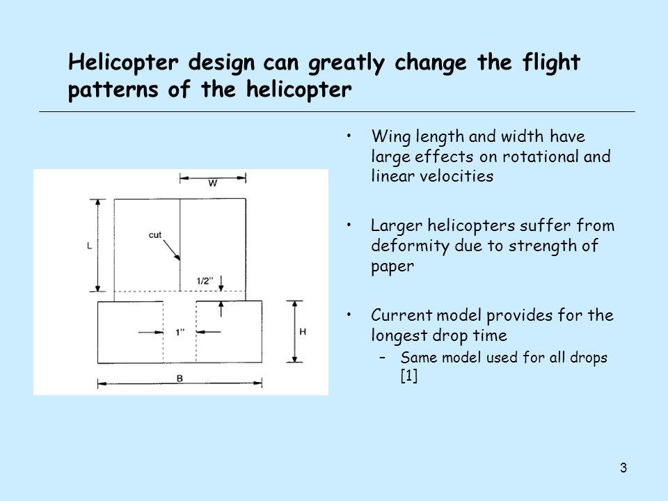 4 At equilibrium, the drag force deflects the rotors upward Rotor deflection angle (wing flex), φ, decreases as linear velocity increases At terminal linear velocity, φ ≈ 70˚ φ