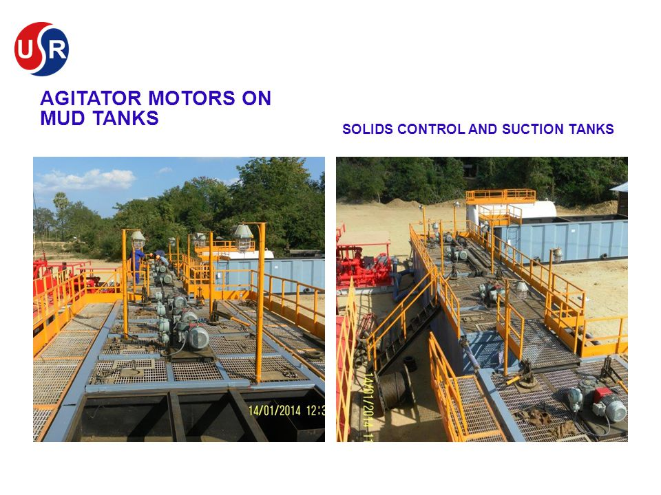 AGITATOR MOTORS ON MUD TANKS SOLIDS CONTROL AND SUCTION TANKS