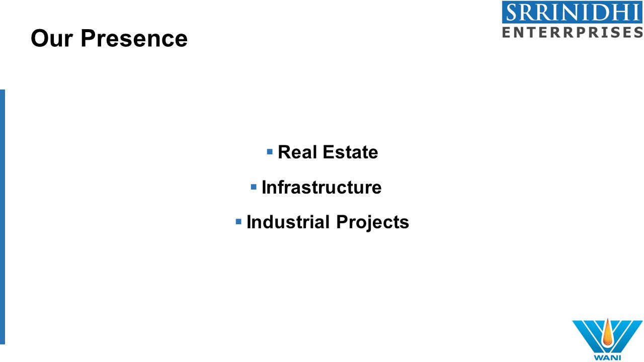 Our Presence  Real Estate  Infrastructure  Industrial Projects