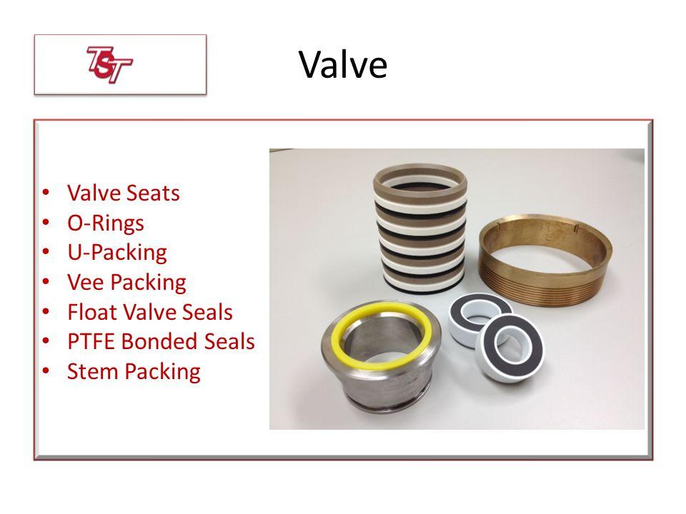 Valve Valve Seats O-Rings U-Packing Vee Packing Float Valve Seals PTFE Bonded Seals Stem Packing