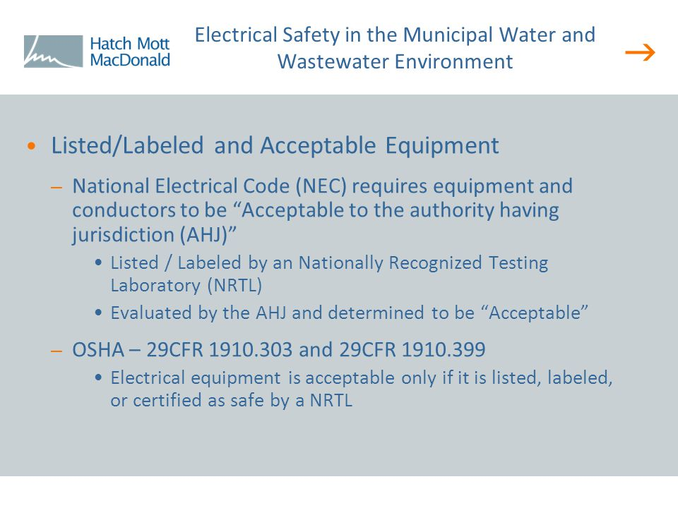  Effects of Sandy on NRTL Listed & Labeled Electrical Equipment – Did the NRTL listing remain in force after the electrical equipment was submerged in saltwater.
