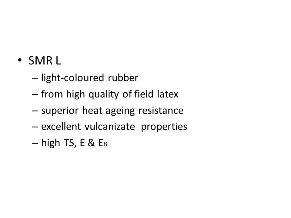 ETHYLENE PROPYLENE (EP) RUBBER ‒highly resistant to ozone and oxidation ‒excellent heat resistance and weatherability ‒have varying degrees of heat and oil resistance and elasticity;