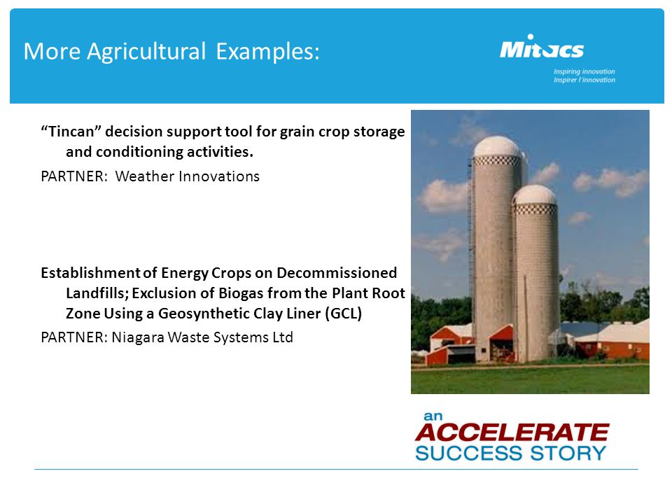 More Agricultural Examples: Tincan decision support tool for grain crop storage and conditioning activities.