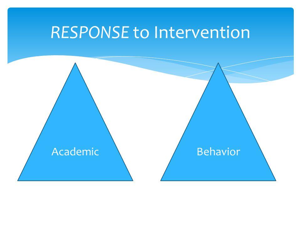 RESPONSE to Intervention AcademicBehavior