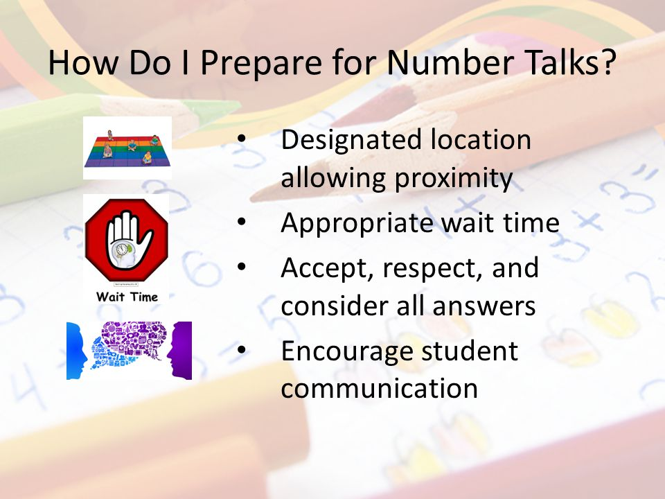 How Do I Prepare for Number Talks.