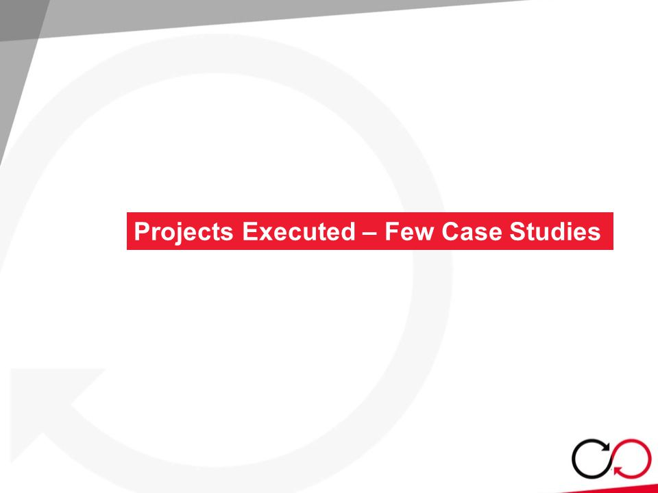 Projects Executed – Few Case Studies