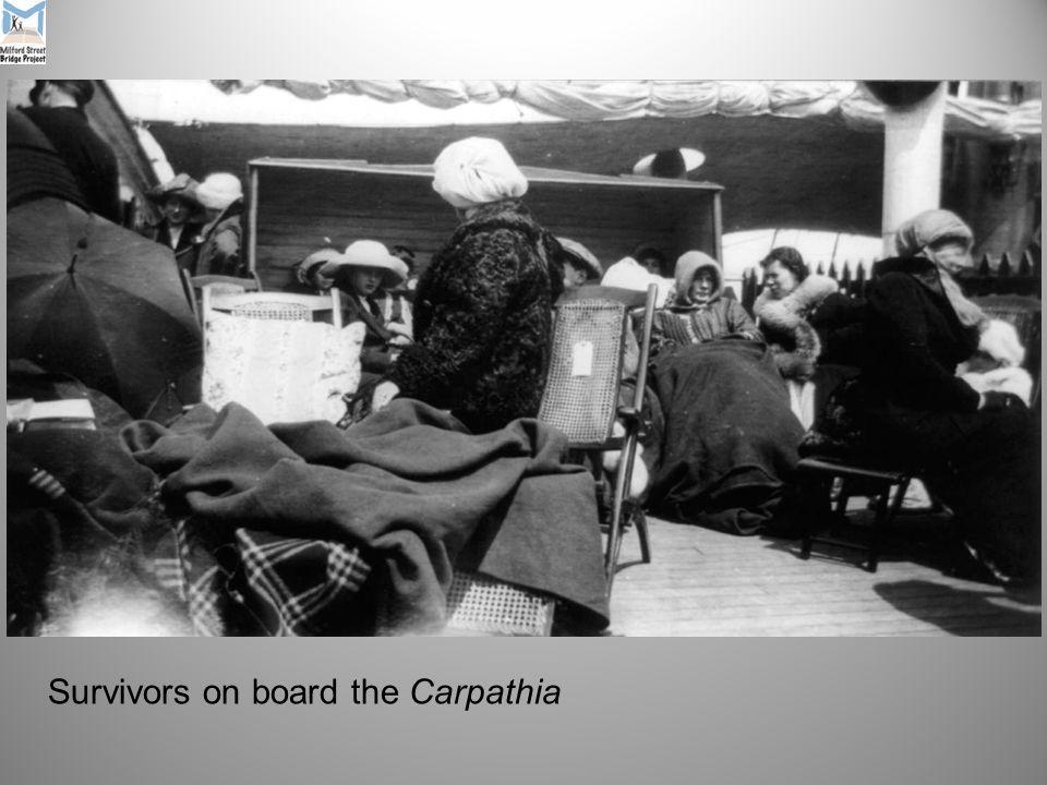 Survivors on board the Carpathia