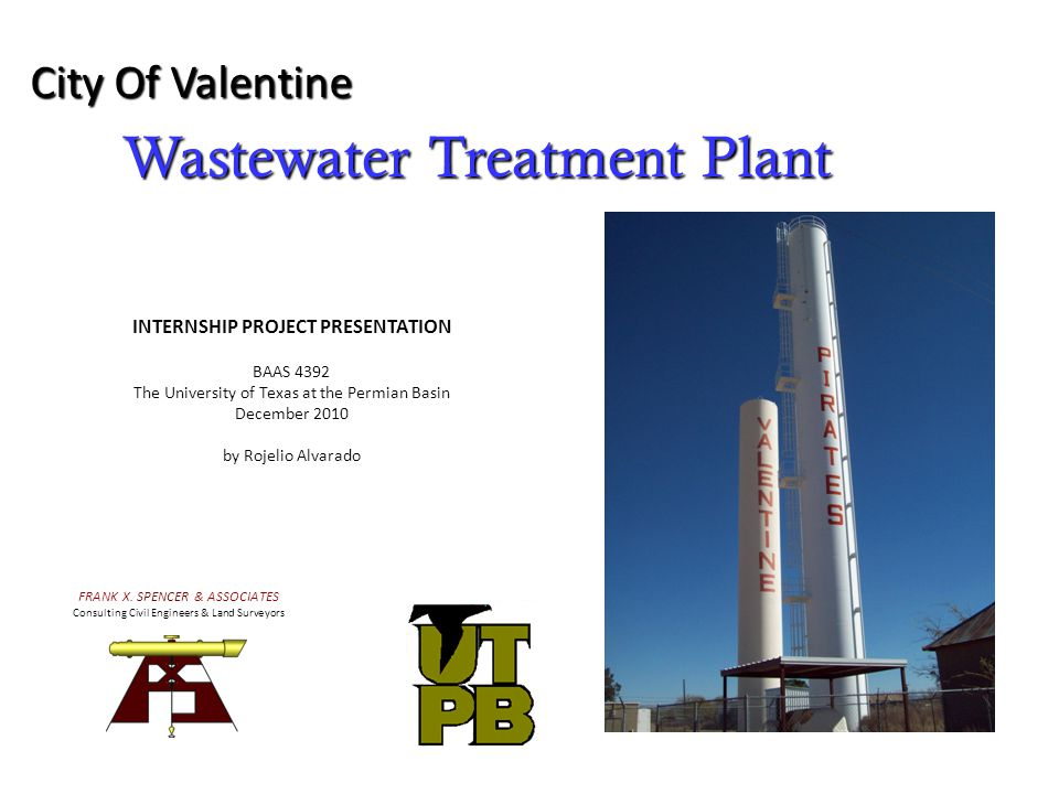 Wastewater Treatment Plant City Of Valentine FRANK X.