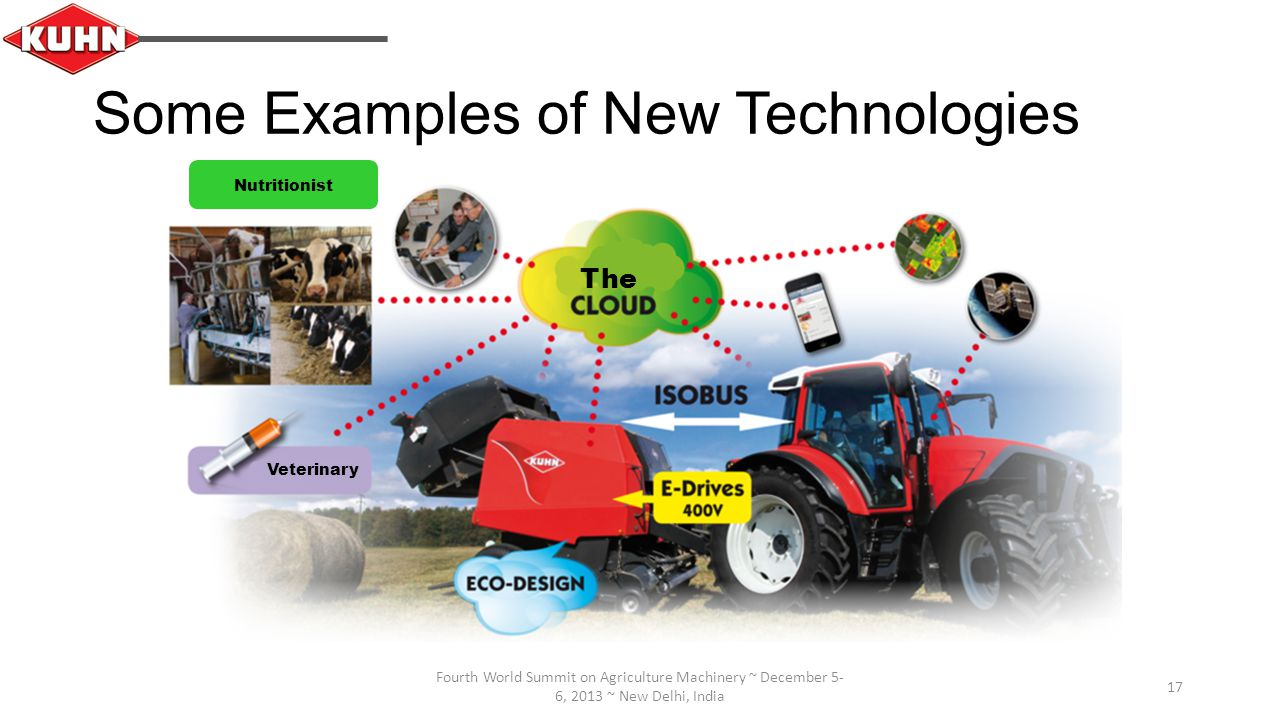 Fourth World Summit on Agriculture Machinery ~ December 5- 6, 2013 ~ New Delhi, India 17 Some Examples of New Technologies The Veterinary Nutritionist