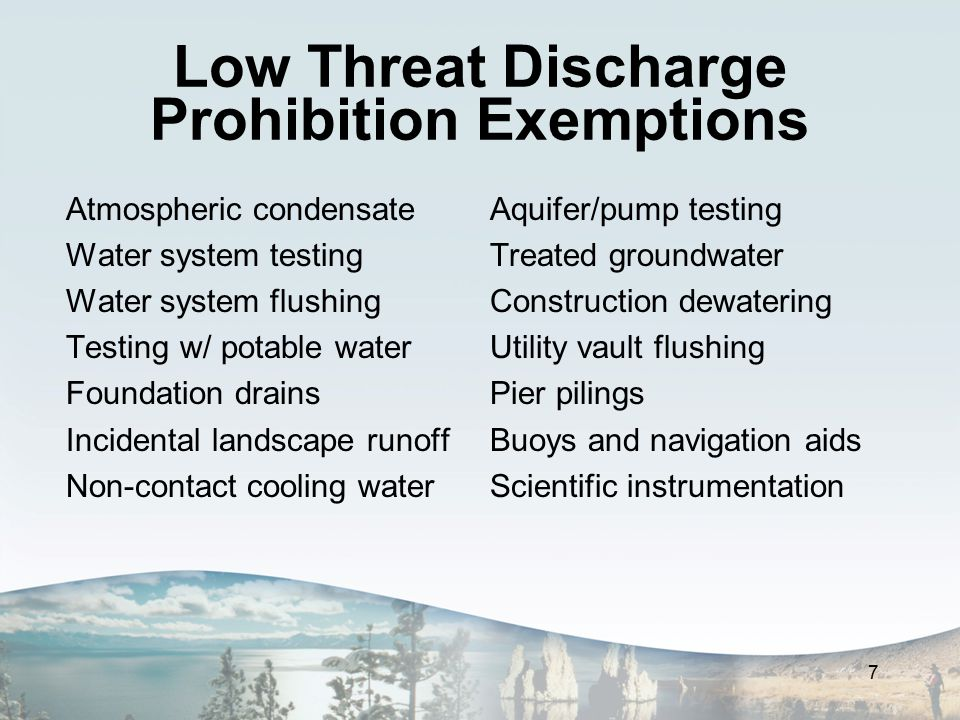 Lake Tahoe Chapter Revisions Significant revision to remove most TRPA-related regulations and discussion Update to reflect current regulatory environment Prohibition and exemption language amended for consistency and clarity 8