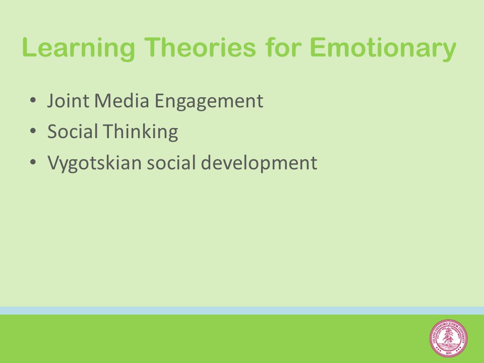 Learning Theories for Emotionary Joint Media Engagement Social Thinking Vygotskian social development