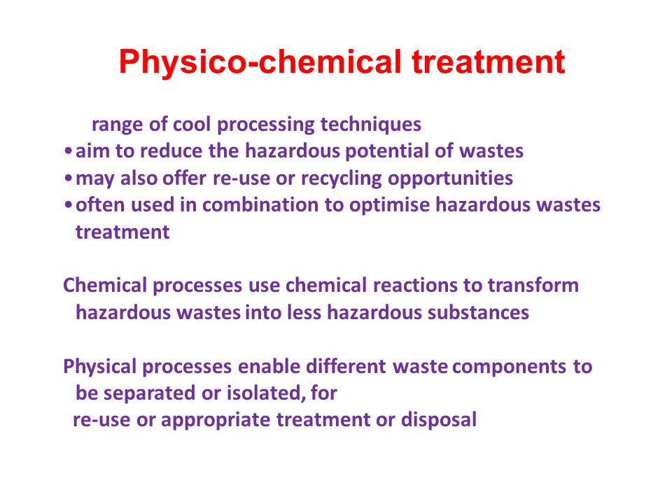 In aerobic waste treatment, hazardous wastes such as chemical processes wastes and land fill leachates can be degraded by aerobic microorganisms such as bacteria and fungi in the presence of oxygen.