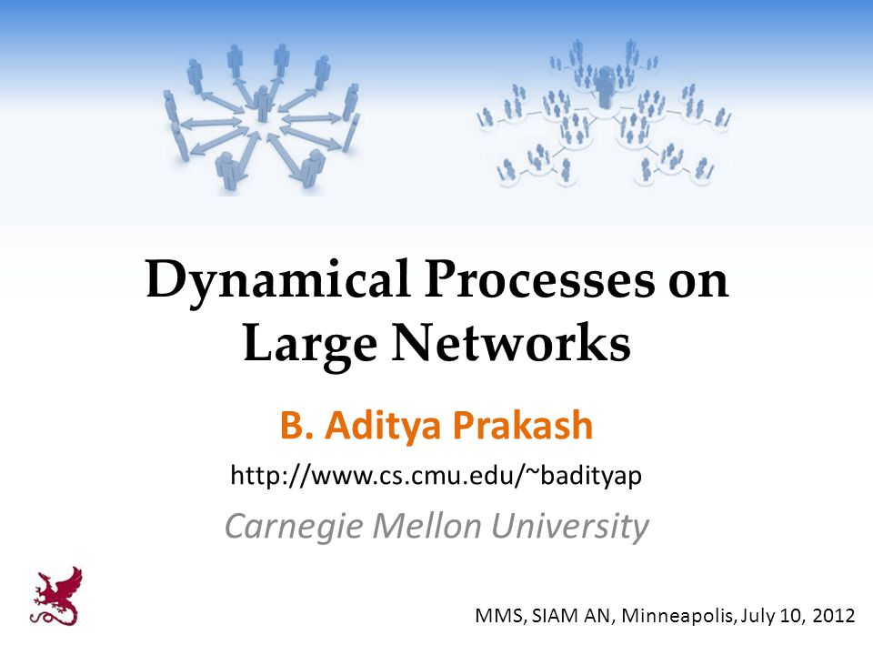 Dynamical Processes on Large Networks B.