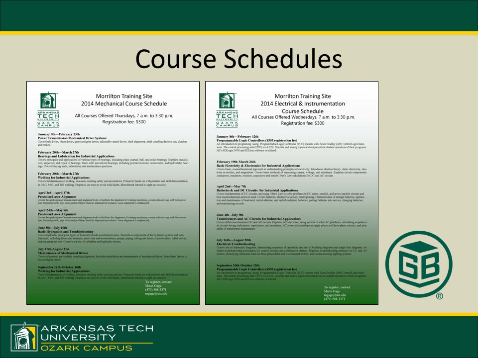Course Schedules