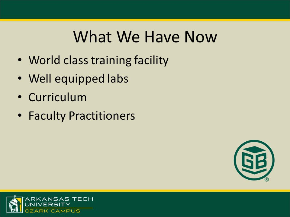World class training facility Well equipped labs Curriculum Faculty Practitioners