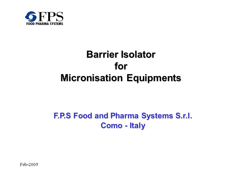 Feb-2005 Barrier Isolator – Schematic Working Principle Container with product rotation for proper coupling