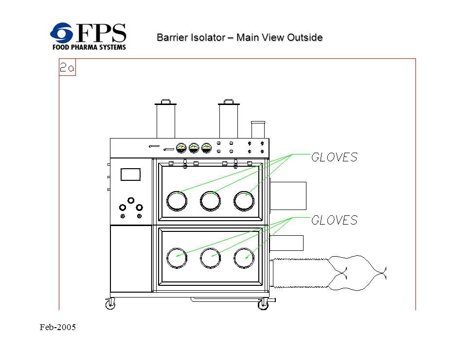 Feb-2005 Barrier Isolator – Equipment Cleaning Spray balls are activated; local cleaning by means of a washing gun.