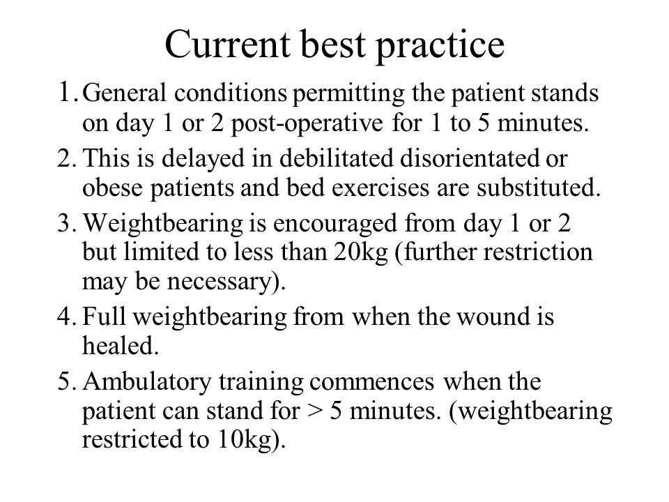 Current best practice 1.