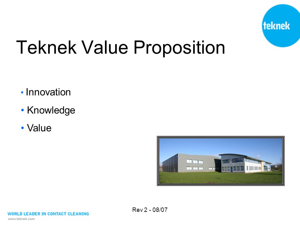 Rev 2 - 08/07 Teknek Value Proposition Innovation Knowledge Value